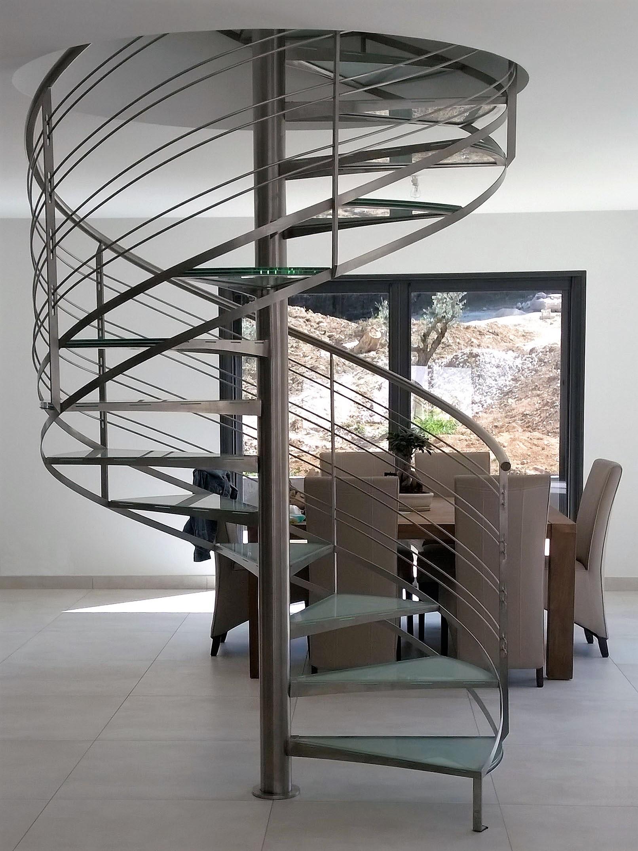 escalier colimacon inox - Inoxngo