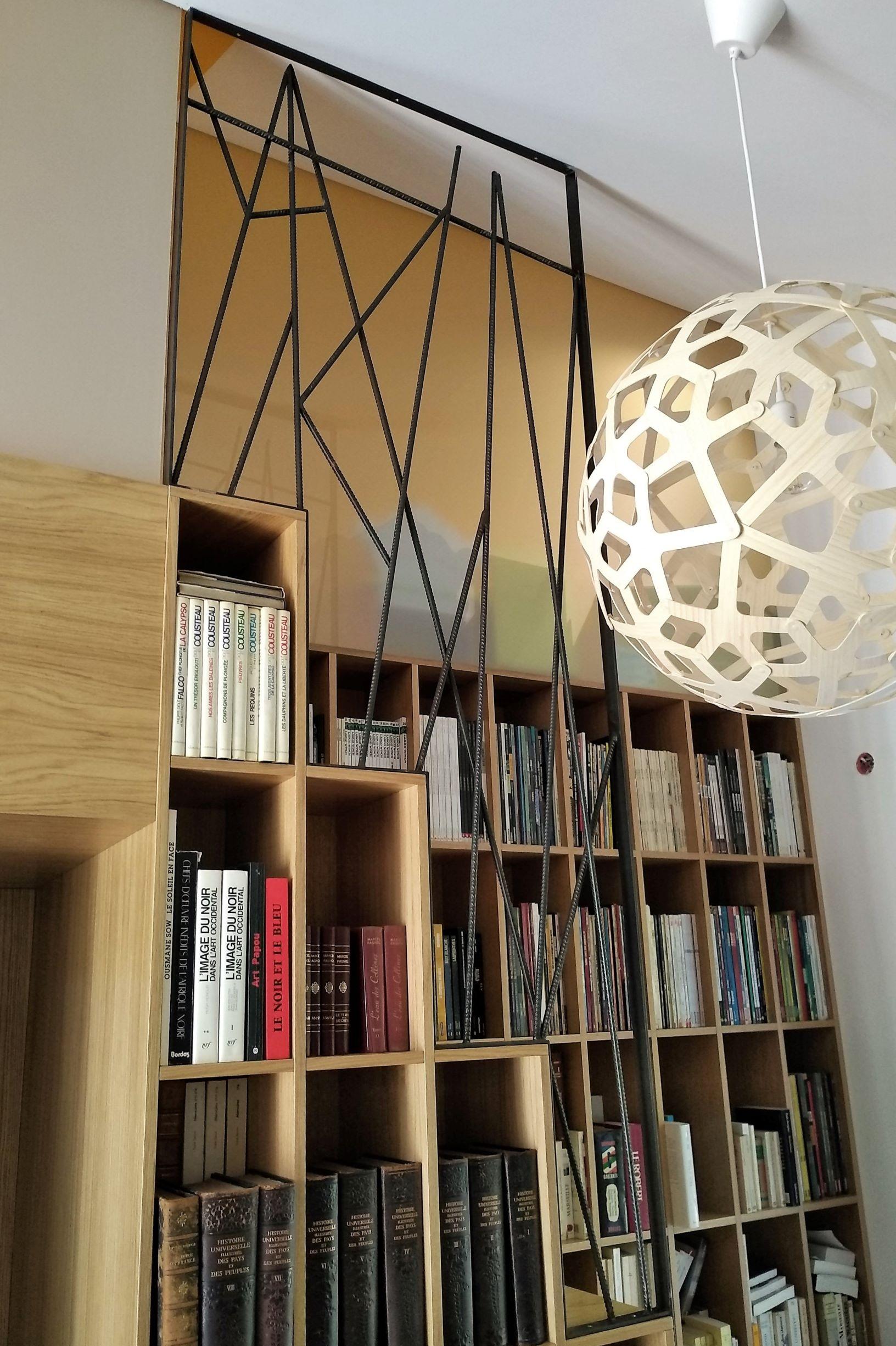 Inoxngo - garde-corps acier design bibliothèque R