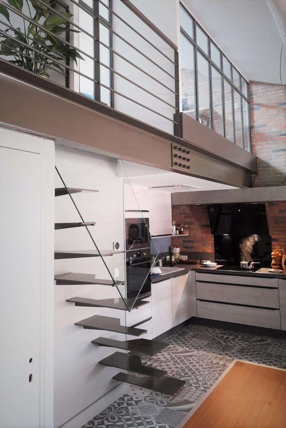 inoxngo ferronnier Marseille - escalier pas japonais 2