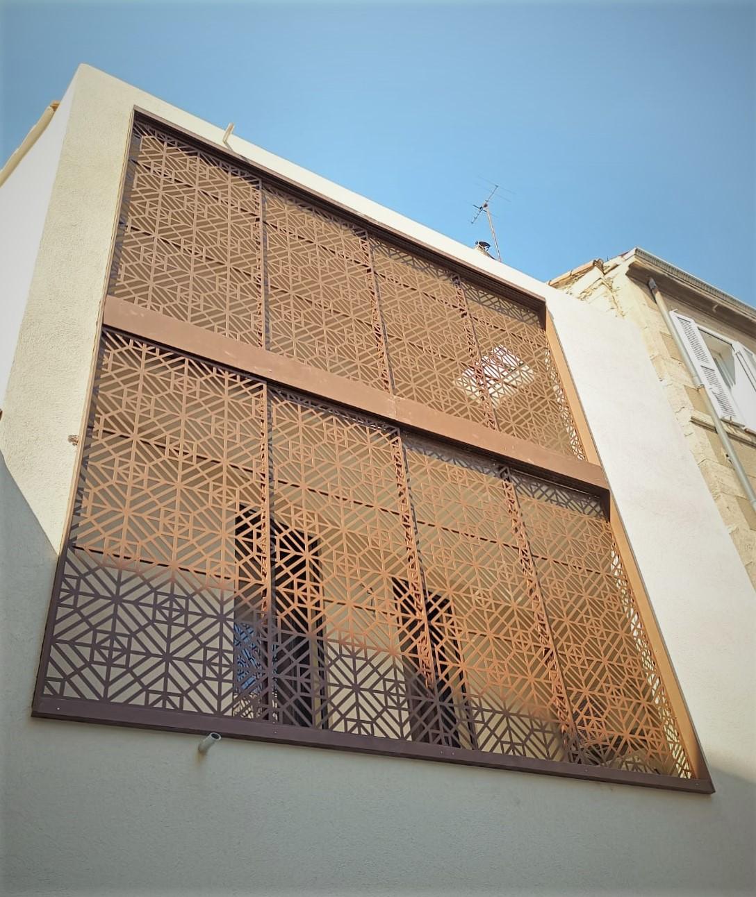 Moucharabieb acier découpe laser 1 Inox N'go ferronnier Marseille