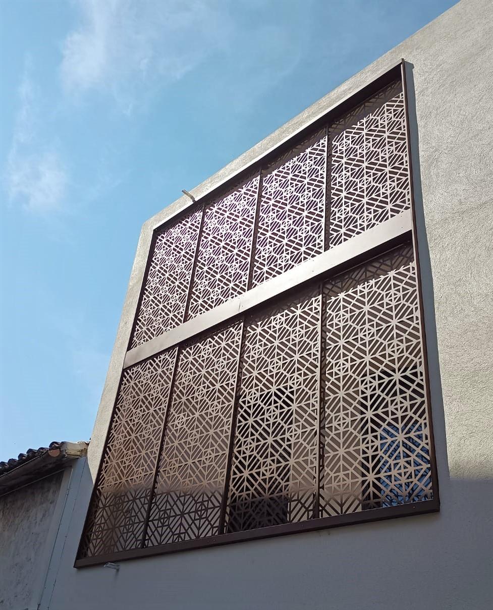 Moucharabieb acier découpe laser 3a Inox N'go ferronnier Marseille